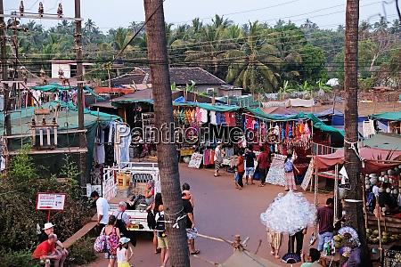 famous weekly flea market in anjuna