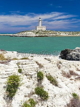 lighthouse in vieste apulia region italy