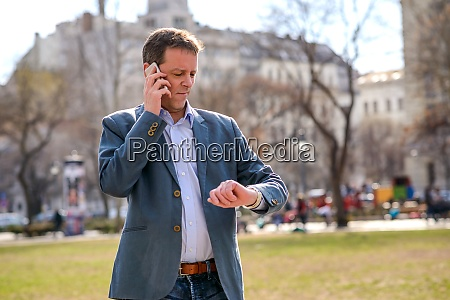 a middle age businessman in the