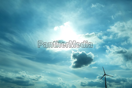 wind energy under a dramatic sky