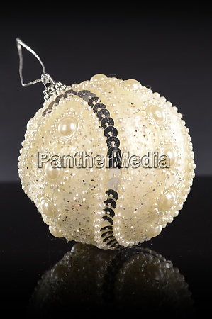 white holiday bauble