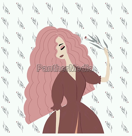 fashionable trend illustration drawing portrait of