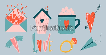 valentines day stickers valentines day cute