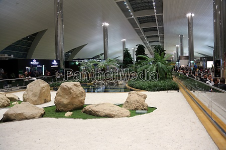 recreation area in international airport in