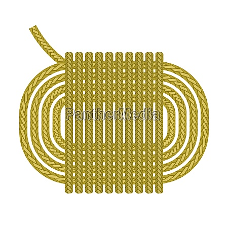 ship rope roll icon isolated on