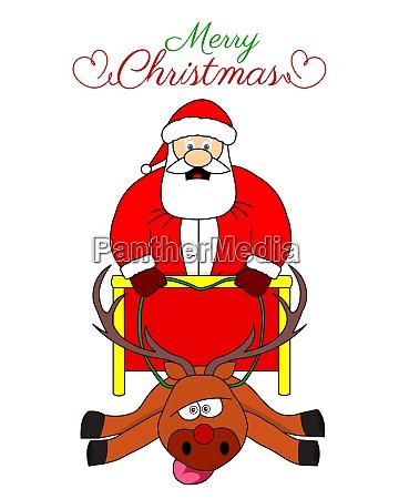 funny fat santa sleigh