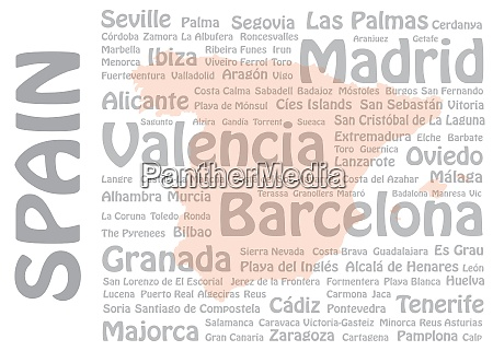 spain cities and landmarks template vector