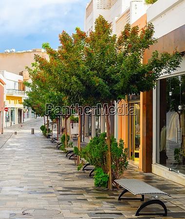 touristic shopping street paphos cyprus