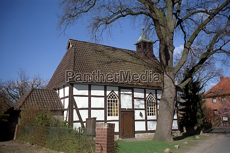 old half timbered chapel of ronnenberg
