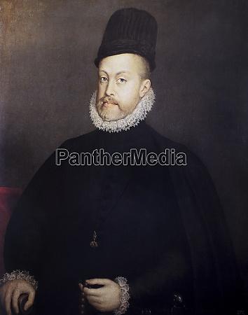 philip ii portrait king of spain