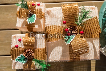 christmas packages rustic decoration