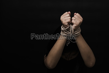 slave asian woman fears she was