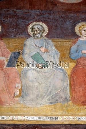saint mark evangelist detail of the
