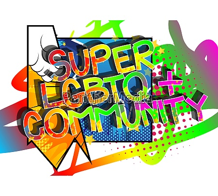 super lgbtq community comic book style