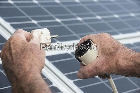 a power plug and solar panel
