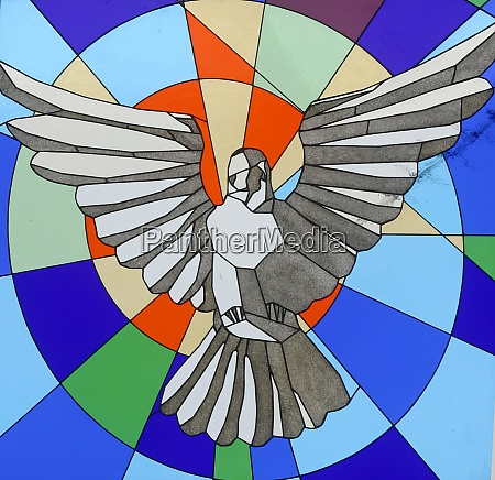 holy spirit bird stained glas