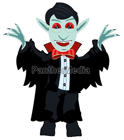 vampire dracula on white background is