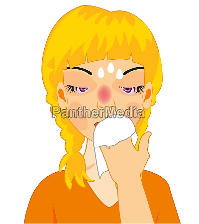 vector illustration of the girl by