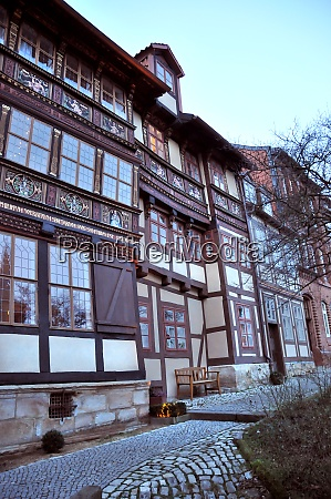 street with half timbered houses in