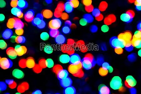 blurred christmas multi color led lights