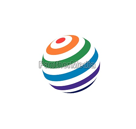 globe global network connected icon vector