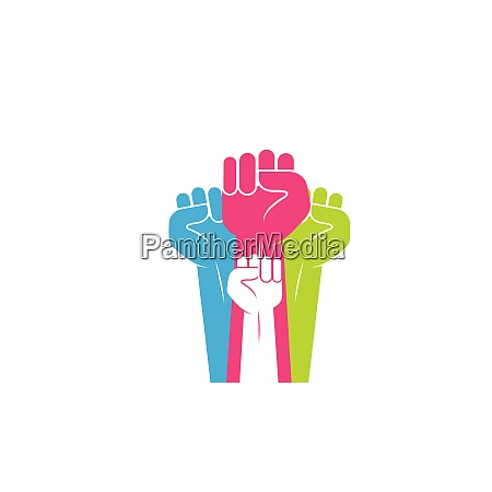 hand up clenched vector icon illustration