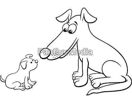 puppy and dog cartoon animal characters