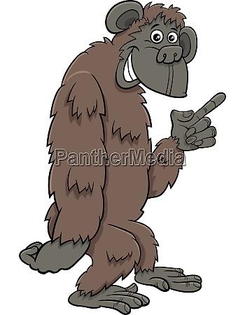 gorilla ape wild cartoon animal character