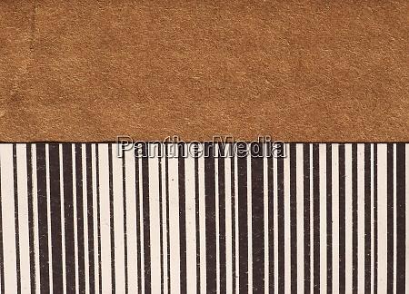 barcode on cardboard box
