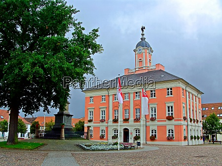 historic baroque town hall from the