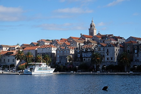 seafront view at picturesque medieval dalmatian