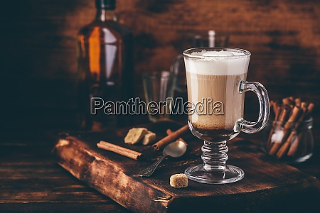 coffee with irish whiskey and whipped