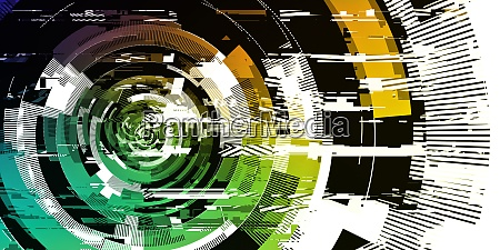 digital pixel noise glitch