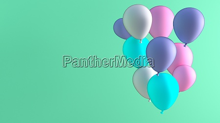balloon celebration background