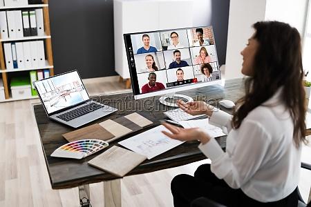 interior designer online video conference call