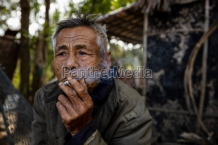 portrait of an old man in