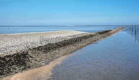 breakwater at the entrance to the