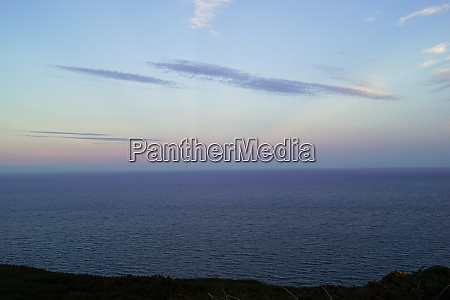 sunset on the hill of howth