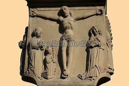 a roadside crucifix in the german