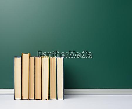 blank green chalk school board and