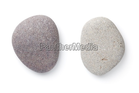 grey pebble stones isolated on white
