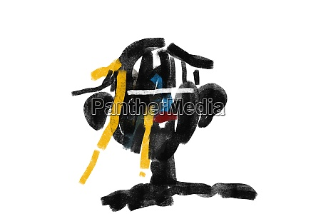 black expressionism art portrait minimalist and