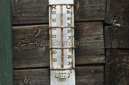 thermometer for measuring the temperature