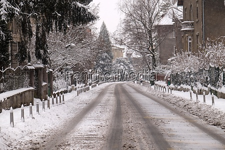 streets covered in snow zagreb croatia