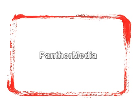 red paintbrush frame made with paintbrush