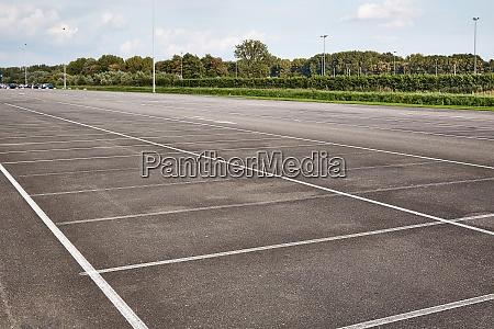 carpark with empty spots