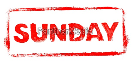 red stencil frame sunday banner
