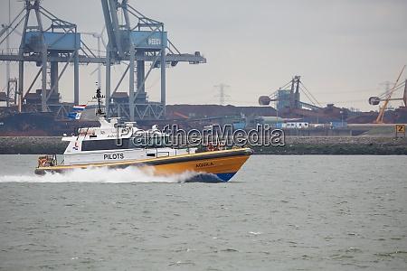 pilot boat in rotterdam