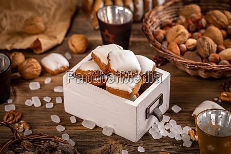 still life of square gingerbreads