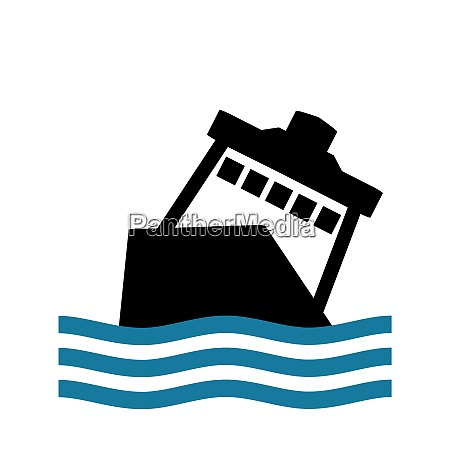 sinking ferry cruise ship or vessel